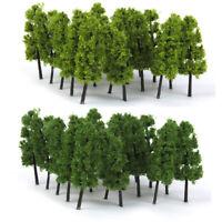 20 Dark/Light Green Tree Model Train Railway Street Scenery Layout N Scale