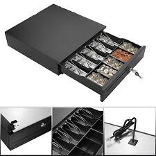 More details for cash register till drawer money 4 bills 5 coins removable tray safe key lockable