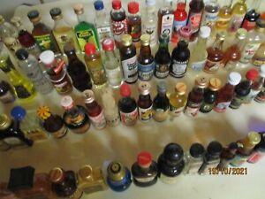 75 Mini Schnapsflaschen, Miniatur Spirituosen, Sammlungsauflösung