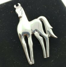 STERLING Silver Horse BROOCH/PIN & PENDANT Marked SC