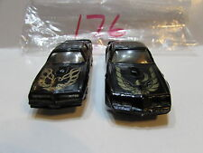 ERTL LOT OF 2 PONTIAC FIREBIRD TRANS AM YATMING ROCKY II - LOOSE HONG KONG BASE