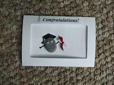 Graduation pebble art card personalised