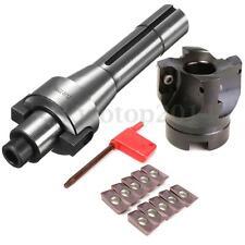 10PCS APMT1604 Inserts + BAP 400R-50-22-4F 50mm Face Mill Cutter R8 FMB22 Arbor