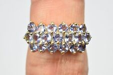 Women's AAA Tanzanite 2.0 ctw Cluster Natural Mined Untreated Ring Round Sizable