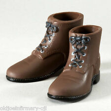 Infirmary Exclusives WWII US Dark Brown Short Boots Male 1:6 (g20)