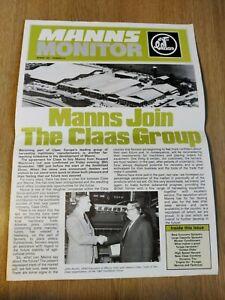 MANNS CLAAS MONITOR SPECIAL EDITION COMBINE TRACTOR MAGAZINE BROCHURE IN VGC