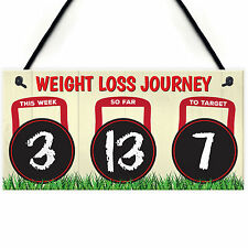 Weight Loss Diet Tracker Chalkboard Hanging Plaque Slimming World Gift Sign