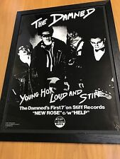 """RARE ORIGINAL STIFF 1976 PROMO POSTER FOR THE DAMNED'S FIRST SINGLE """"NEW ROSE"""""""