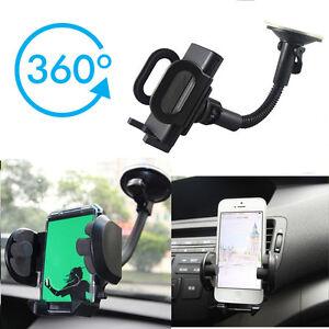 360°Universal Car Mobile Phone Windscreen Suction Mount Dashboard Holder GPS