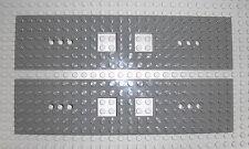 LEGO Eisenbahn - 2x Grundplatte 6x24 neudunkelgrau Waggon Train Base 92088 60051