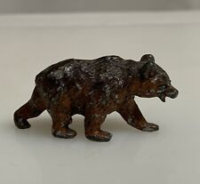 Vintage Heyde Germany Bear Lead Toy Hollow Cast Figurine  -  59613