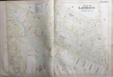 Orig 1896 L.J. Richards Lawrence, Massachusetts John K. Tarbox School, Atlas Map
