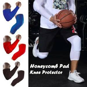Knee Elbow Sleeve Pad Basketball Protective Leg Long Sleeve Crashproof Brace OS
