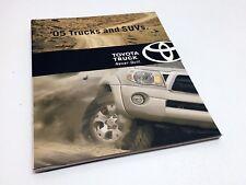 2005 Toyota RAV4 Highlander 4Runner Sequoia Tacoma Tundra Brochure