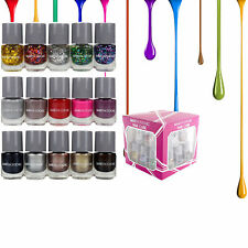 Nail Polish Set Cube 15 Colours Varnish Manicure Kit Make Up Box Xmas Gift