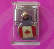 b Canadian Canada Maple leaf flag Italian LINK bracelet charm claire's