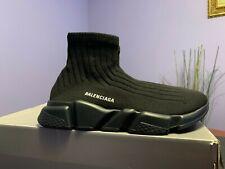 BALENCIAGA Speed Sneaker in Black Knit, US8