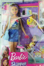 New in Package Barbie Skipper Babysitters Inc Teen Purple Hair Baby Stroller