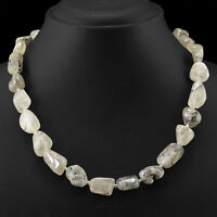 385.50 CTS NATURAL UNTREATED RUTILE QUARTZ BEADS NECKLACE - WHOLESALE PRICE