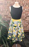 BNWT Lemon Print Chetta B Dress UK Size 10, US Size 6