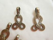 Silver Chandelier Earring or pendant finding  Ethnic Vintage India 5 pairs