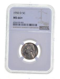 MS66+ 1950-D Jefferson Nickel - Graded NGC *271
