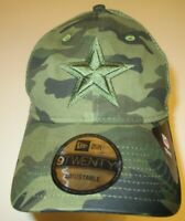 New Era 9Twenty Dallas Cowboys Cap Hat men adjustable mesh back Camo camouflage