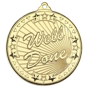 WELL DONE MEDALS - Free Engraving, Ribbon and Delivery