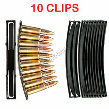 10PCS Steel 10 Round SKS 7.62x39 Ammo Loader Reload Stripper Mag Clips US seller