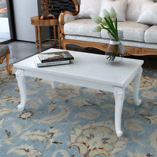 High Gloss Coffee Table Plastic Legs Office Tables Living Room MDF Hallway White