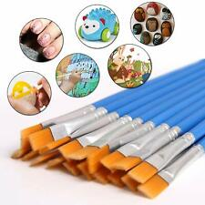 60 Pcs Flat Paint Brushes Small Brush Bulk for Detail Painting Craft Art Gift