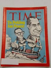 Time Magazine July 26 1971 Nixon To Peking For Peace - English Weekly