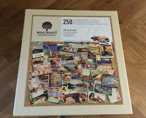 Wentworth Wooden jigsaw puzzle 250 pieces / UK Postcards / Used