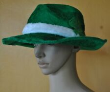 NWT HAPPY ST. PATRICK'S DAY GREEN FEDORA HAT UNISEX COSTUME
