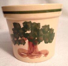 """Alpine Pottery Roseville Crock Vase 5.5"""" Tree Pattern"""