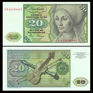 Germany 20 Mark, 1980, P-32, Banknote, UNC