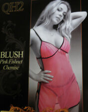 Blush Pink Fishnet Chemise w/ G-String Adjustable Plus Size Lingerie Queen Sexy