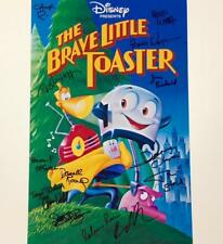 Disney BRAVE LITTLE TOASTER Cast Signed 11x17 Movie Poster Photo ~ 14 Autographs