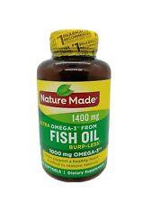 Nature Made Ultra Omega-3 Fish Oil 1400 mg  90 Softgels 1000mg Exp 10/2021+