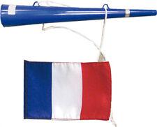 Trompette bleue avec pavillon français tricolore idéal supporter [10751] sport