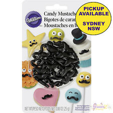 WILTON CANDY MUSTACHES CUPCAKE CAKE POPS EDIBLE SPRINKLES COOKIE DECORATIONS