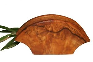 Porte-lettres demi-lune en bois d'olivier (ref:603)