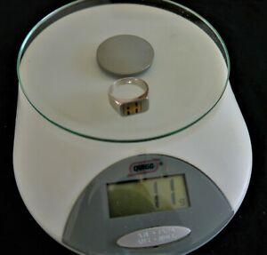 Gold Ein Herrenring in  750er Gold Gewicht 10,58 Gramm rhodiniert