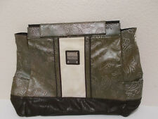 MICHE Prima ERIN green/blk paisley embossed large bag purse cover SHELL ONLY