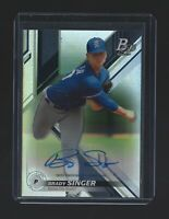BRADY SINGER   2019 Bowman Platinum #TOP19  AUTOGRAPH RC  Kansas City Royals