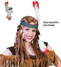 CARNEVALE HALLOWEEN DIADEMA INDIANO FASCIA CON PIUME BAND WITH INDIAN FEATHERS