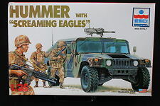 YC056 ESCI 1/35 maquette tank char 5016 Hummer + Screaming Eagles rare version