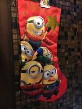 Despicable Me Minions Decorating  Holiday Licensed Christmas Stocking *