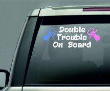 Double Trouble on board on board Car Window Vinyl / Sticker Decal in 4 colours