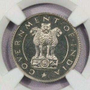 1950(B) India 1/4R NGC PF 65 Cameo